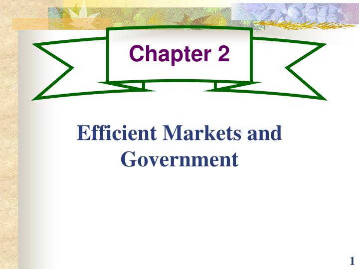 efficient markets and government n.