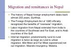 migration and remittances in nepal