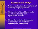 essence of a city