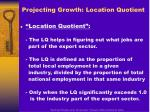 projecting growth location quotient