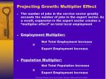 projecting growth multiplier effect