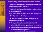 projecting growth multiplier effect17