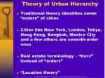 theory of urban hierarchy12
