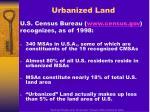 urbanized land