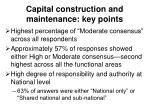 capital construction and maintenance key points