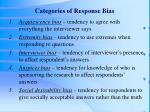 categories of response bias