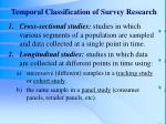 temporal classification of survey research