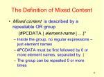 the definition of mixed content