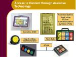 access to content through assistive technology