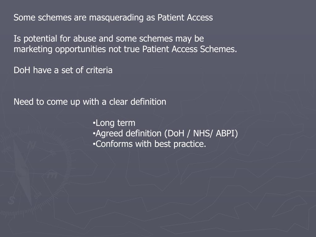 Some schemes are masquerading as Patient Access