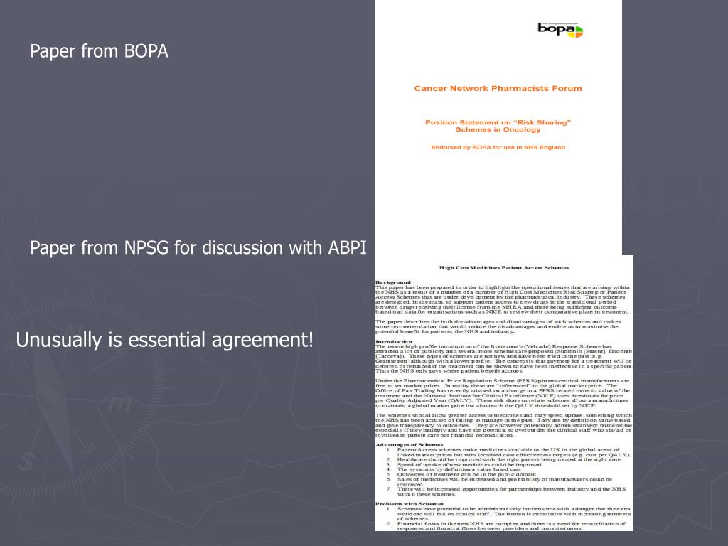 Paper from BOPA