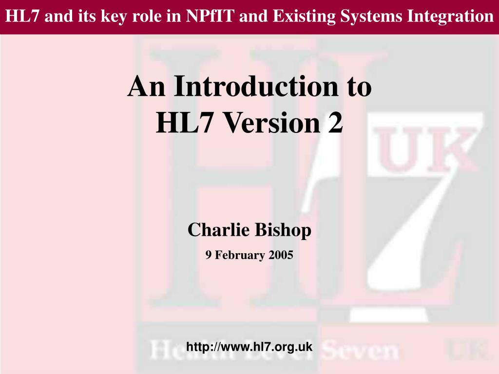 an introduction to hl7 version 2 l.