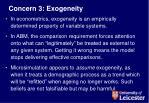 concern 3 exogeneity