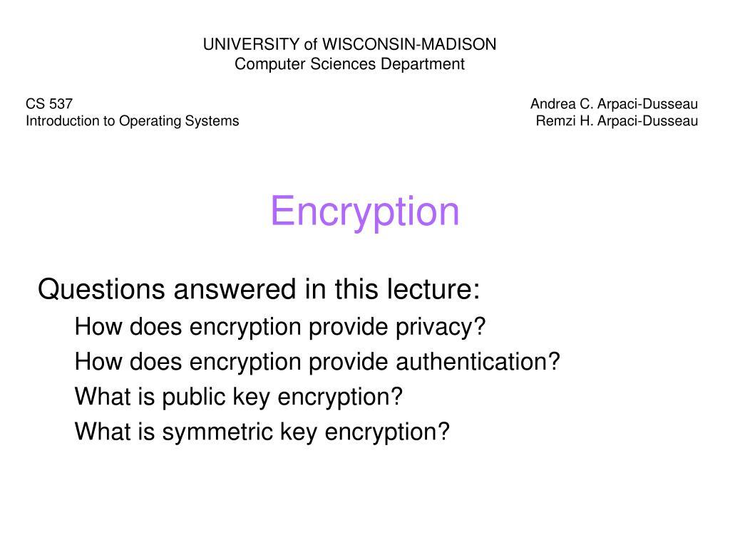 encryption l.