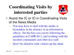 coordinating visits by interested parties