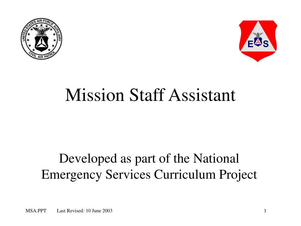 mission staff assistant l.
