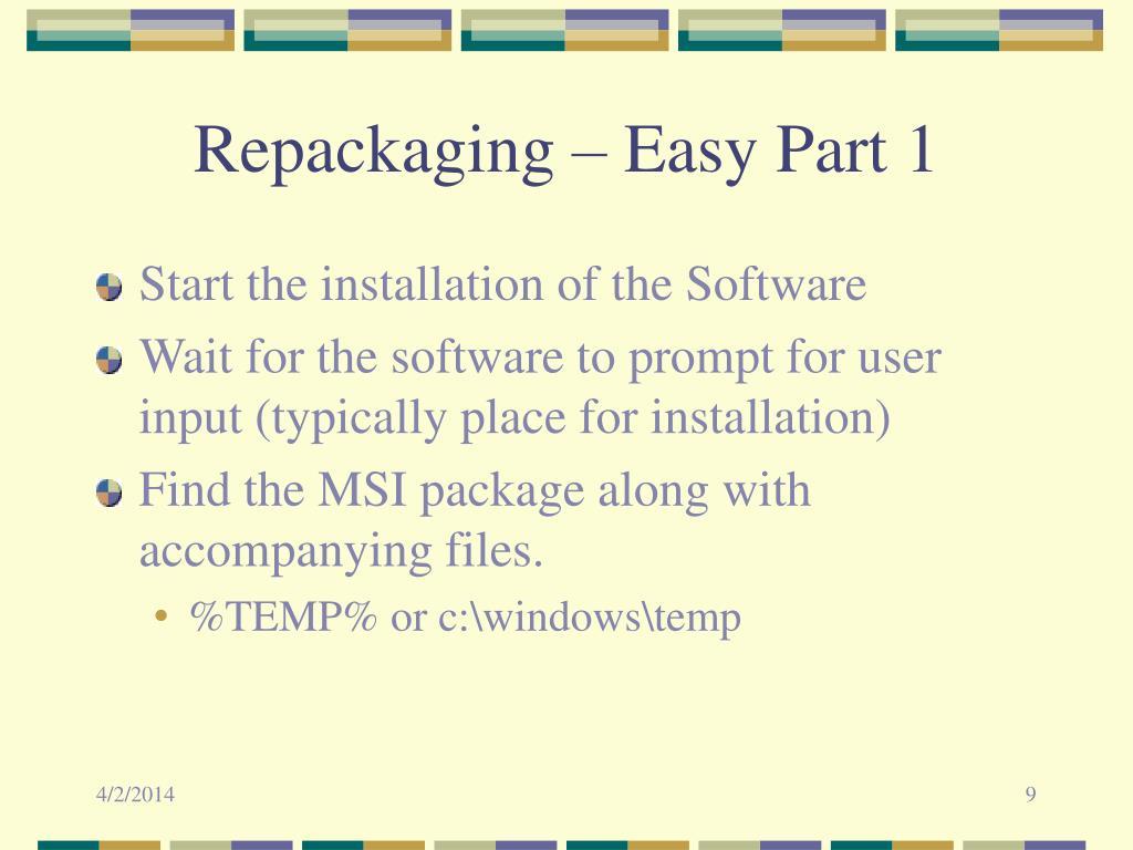 Repackaging – Easy Part 1