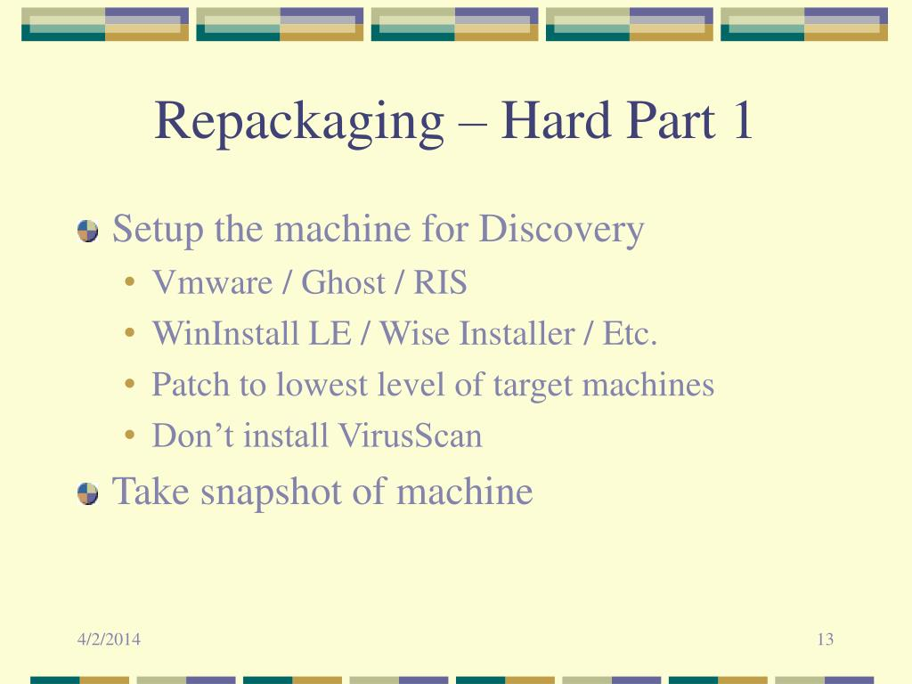 Repackaging – Hard Part 1