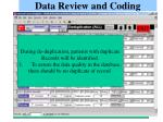 data review and coding