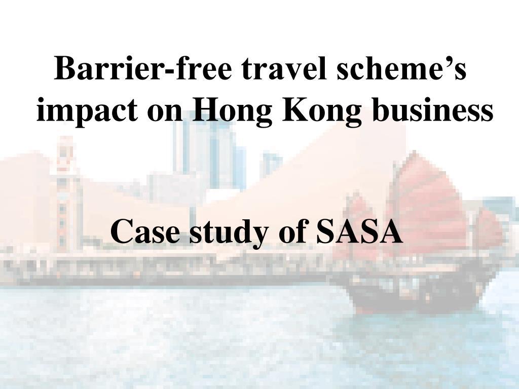 Barrier-free travel scheme's