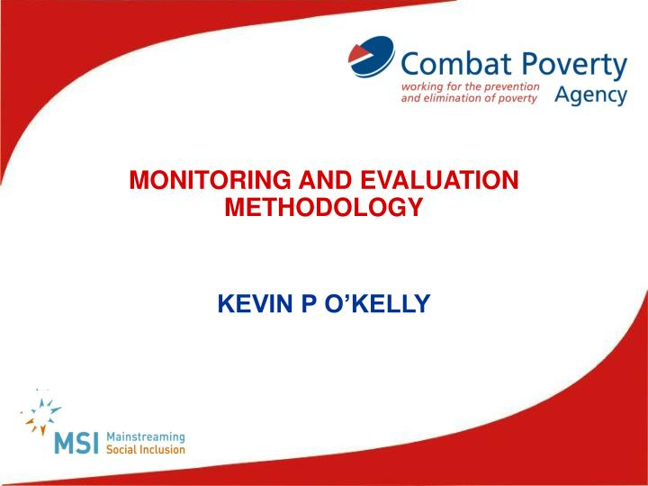 monitoring and evaluation methodology n.