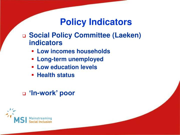 Policy Indicators