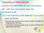 choosing an intervention