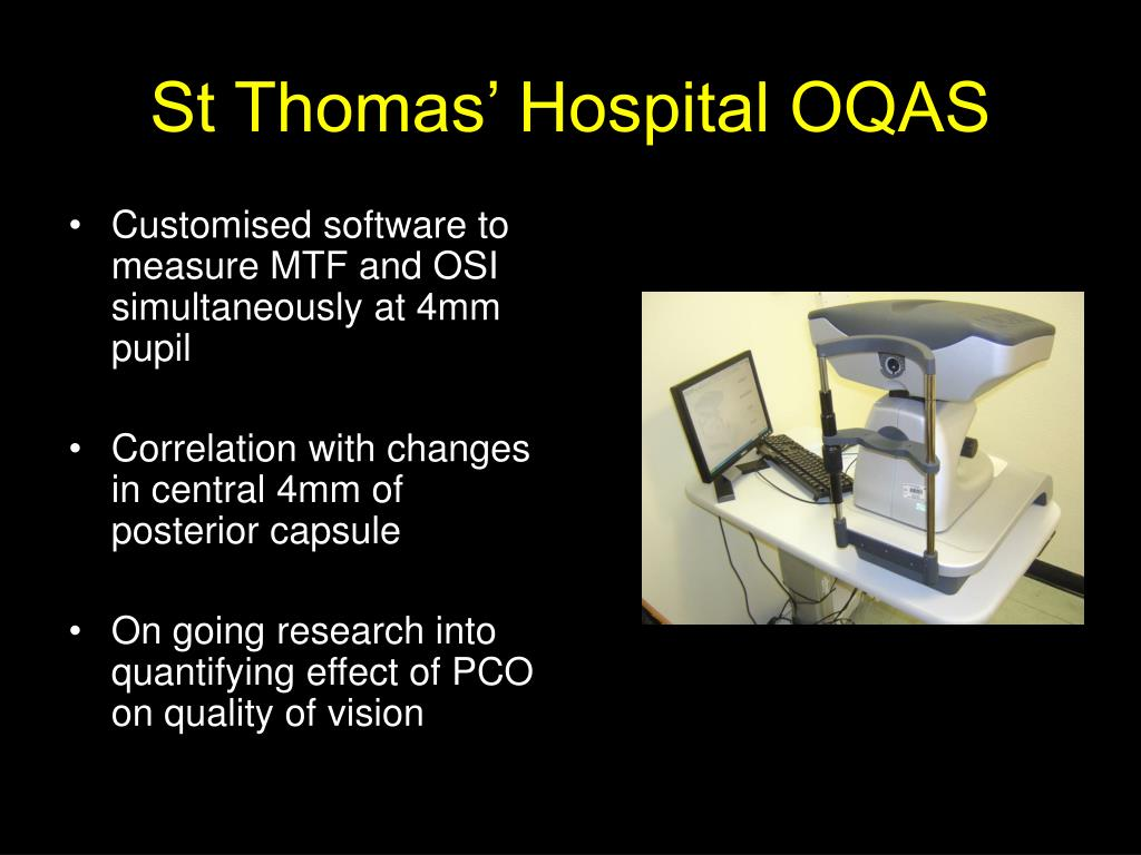 St Thomas' Hospital OQAS