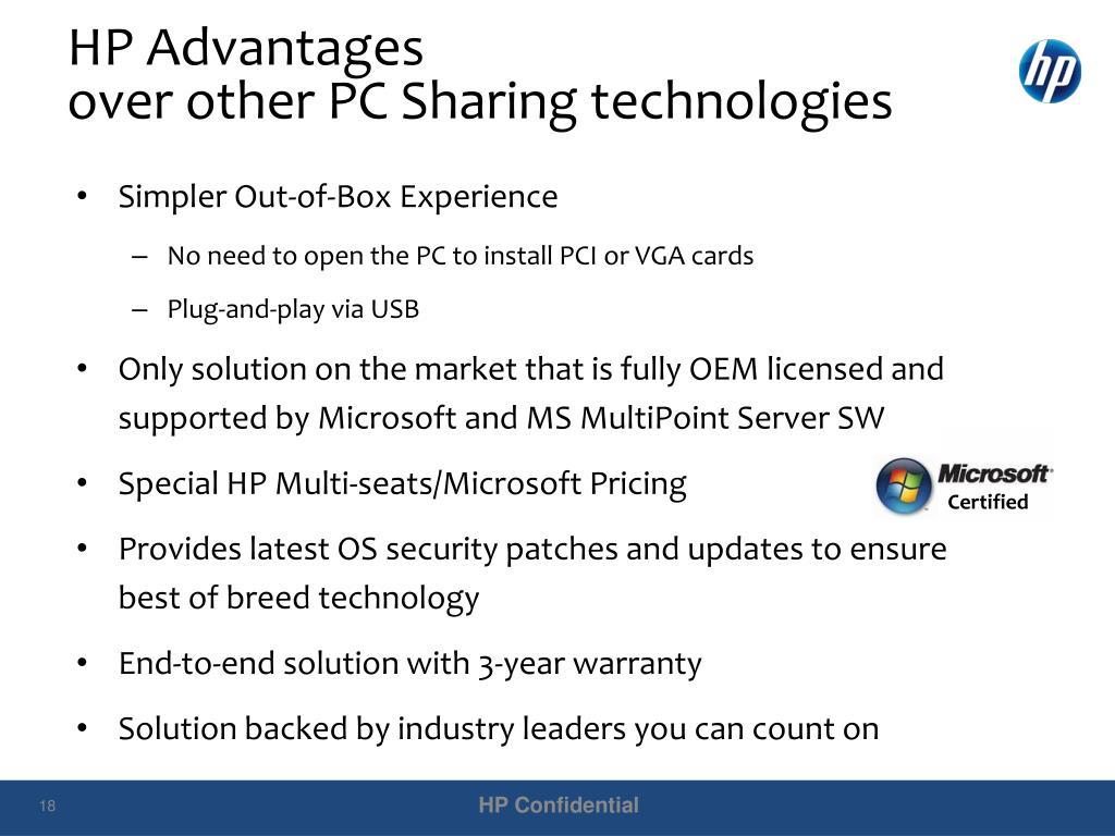 HP Advantages