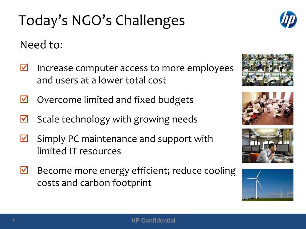Today's NGO's Challenges