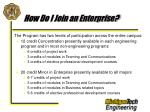 how do i join an enterprise