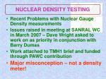 nuclear density testing