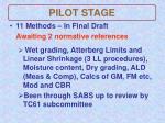 pilot stage