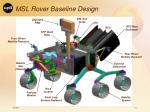 msl rover baseline design