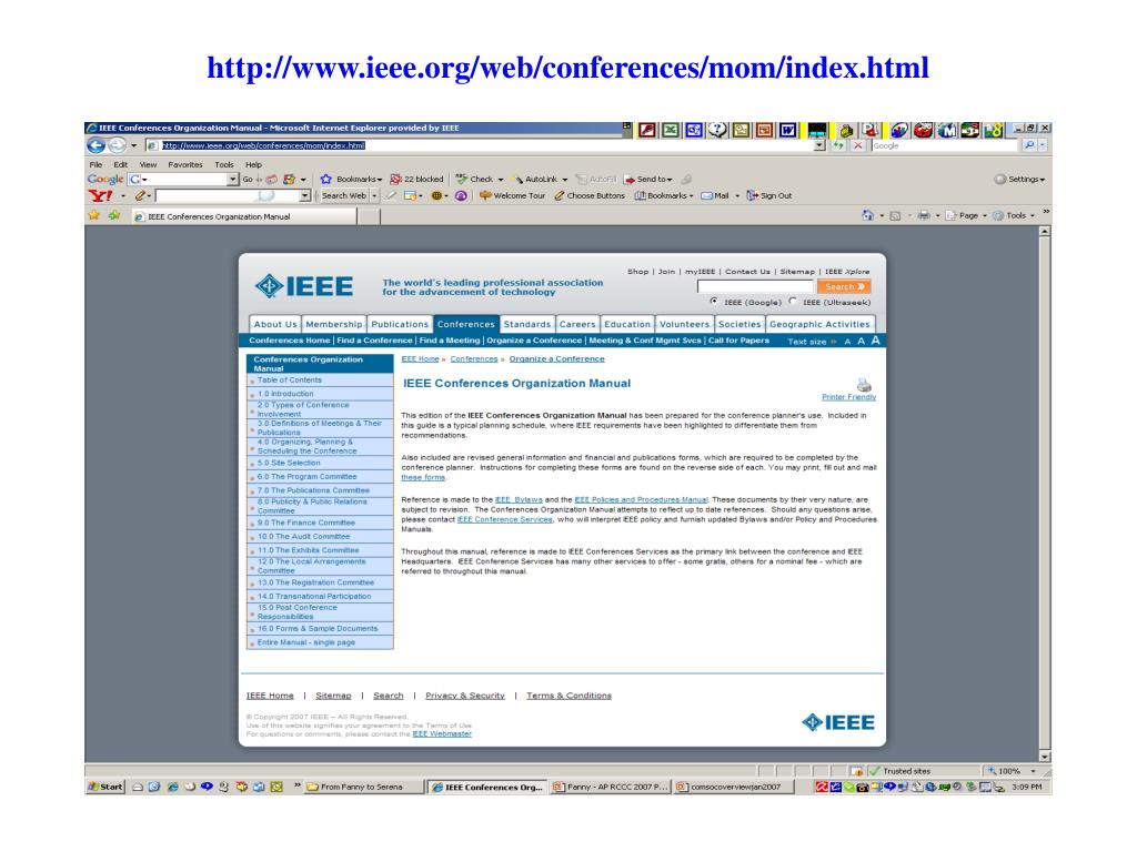 http://www.ieee.org/web/conferences/mom/index.html