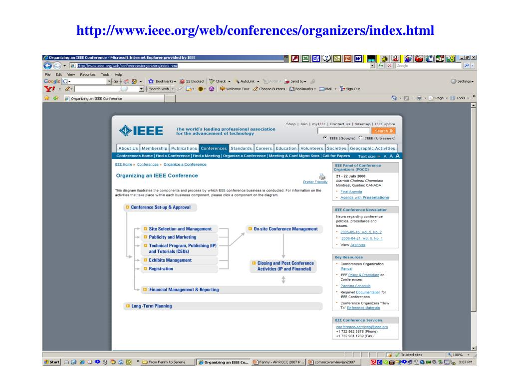 http://www.ieee.org/web/conferences/organizers/index.html