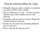 pass by reference pass by value