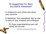 10 suggestions for more successful assessment47