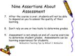 nine assertions about assessment92