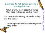 questions to ask before writing a learning outcome54