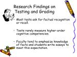 research findings on testing and grading