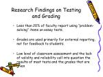 research findings on testing and grading72
