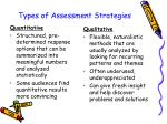 types of assessment strategies67