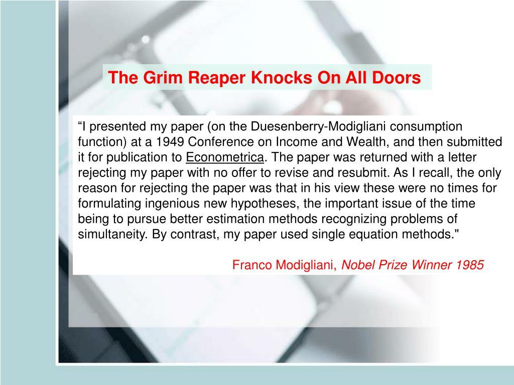 The Grim Reaper Knocks On All Doors