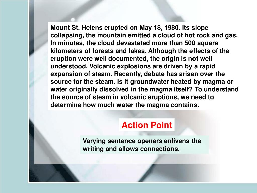 Mount St. Helens erupted on May 18, 1980. Its slope
