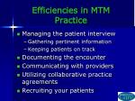 efficiencies in mtm practice