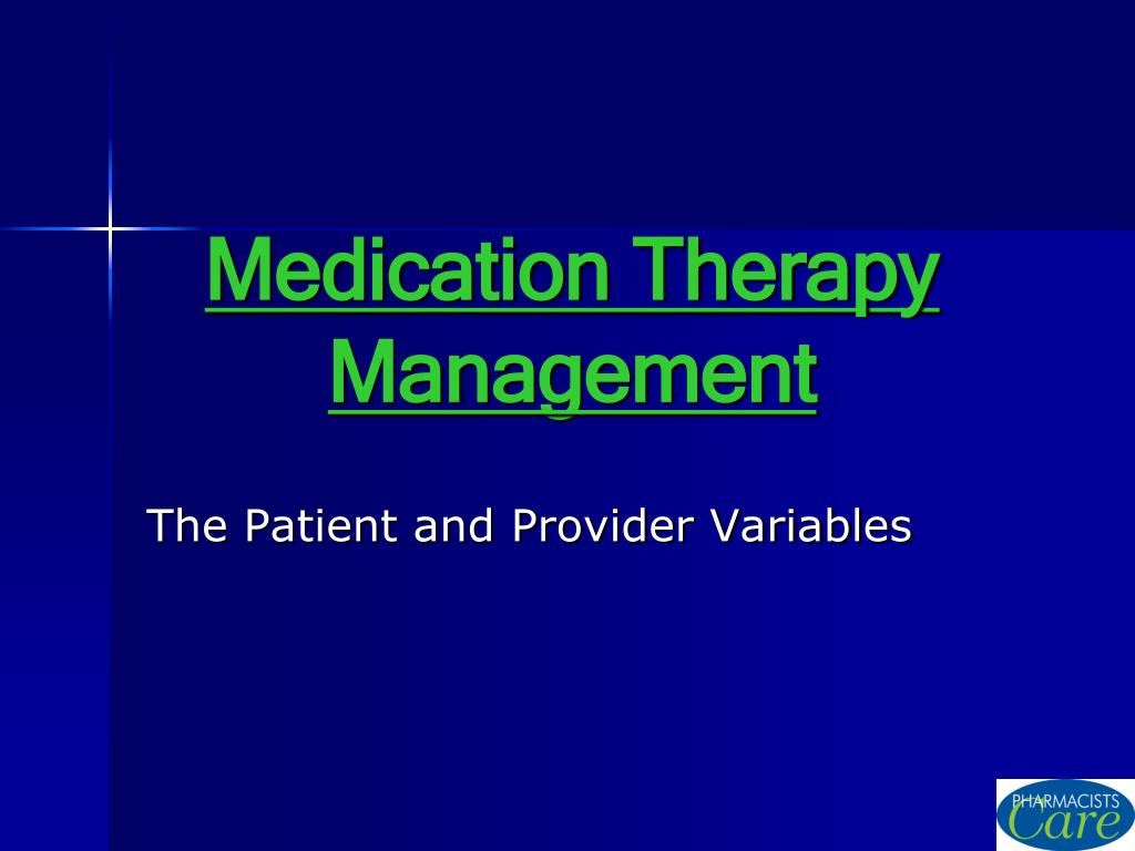 medication therapy management l.