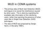mud in cdma systems