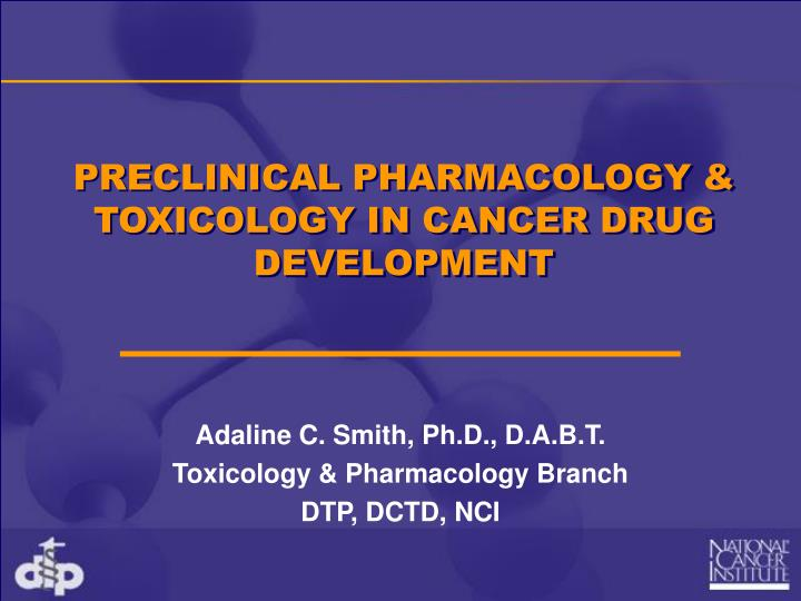 preclinical pharmacology toxicology in cancer drug development n.