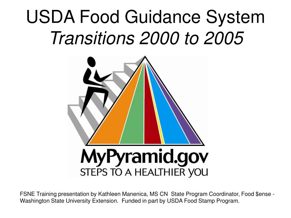usda food guidance system transitions 2000 to 2005 l.